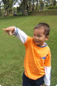 "Gregory ""Andro"" S., pre-schooler I'm sponsoring at Green School"