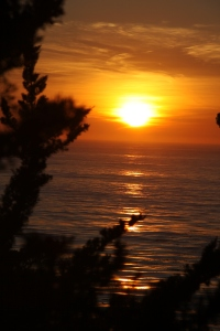 Sunset in Big Sur, November 29 2008