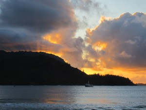 Sunset over Hanalei
